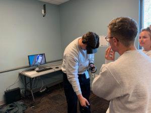 EMT Cadets using VR training