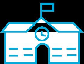 icon of school house