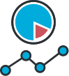 icon of pie graph and line graph