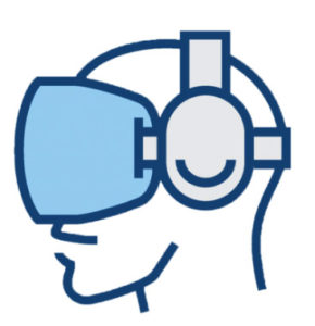 icon of person wearing VR googles