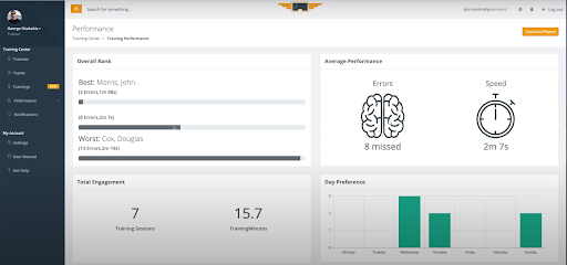Performance Management in ATS HERO Platform - Augmented Training Systems